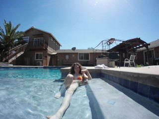 Goofing around at the pool :P