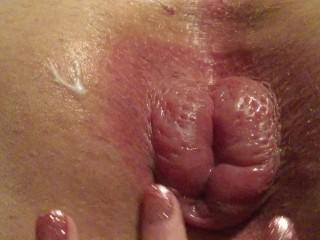 Femdom pumping male slaves ass til swollen