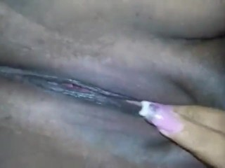Playing with my pussy while wearing nails
