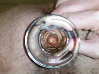 If you were a dick up my ass, what would you see? Glass dildo, anal tunnel
