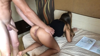 She wants to study but Anal is in her mind.HD Cum cumshot