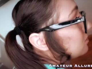 Amateur Allure Lily Adams Pigtailed Computer Repair Double Cock Surprise
