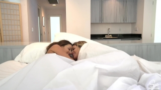 Luckiest Guy Ever Has 3some Morning Sex w/ His 2 Hot Girlfriends & Creampie Deepthroat gaping