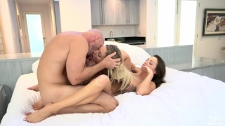 Luckiest Guy Ever Has 3some Morning Sex w/ His 2 Hot Girlfriends & Creampie  cowgirl 3some doggystyle girl eating creampie sharing my wife bubble butt sinslife big ass white girls big cock lingerie creampie threeway