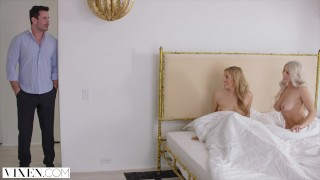 VIXEN Two Curvy Roommates Seduce and Fuck Married Neighbor Of lady