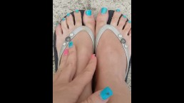 Lucy's Flip Flop and Barefeet  2