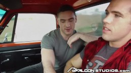 Cute College Boy Blows Hot Daddy Alex Mecum In Pickup Truck