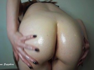 Oil Soaked Ass JOI Oily Booty Femdom Jerk Off Instruction Nude Butt