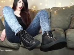 Sweaty Sneakers Foot JOI! Feet Socks Smelly Jerk Off Instruction Femdom