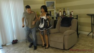 Asian Maid Makes Her Client Kiss Her Ass - Femdom - Ember Snow