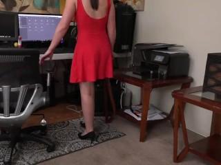 Naughty Secretary Jerking Off In The Office - Amy Faye