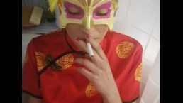 PISS DRINKING AND SMOKE ASIAN GEISHA
