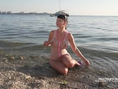 : One-piece transparent swimsuit