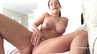 Eva Lovia fingering her pussy JOI - big boobs
