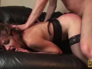 British subslut punished and hardfucked before tasting cum