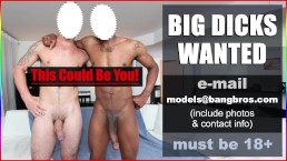 BIG COCKS WANTED! - BigDaddy.com Is Hiring Male Pornstars. Cum Work For Us