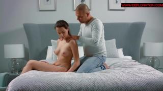 Hot sex scene between a sexy virgin and prof actor