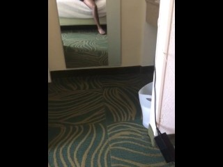 Young guy uses Fleshlight in hotelroom