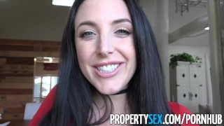 PropertySex - Sex addict tenant with big tits fucks landlord  big ass point of view angela white landlord whooty stripping funny australian blowjob thick propertysex dsl tenant pawg brunette big boobs natural tits eviction huge tits