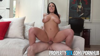 PropertySex - Sex addict tenant with big tits fucks landlord Gangbang thot