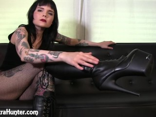 Dirty Little Boot Licker -- Boot Worship POV
