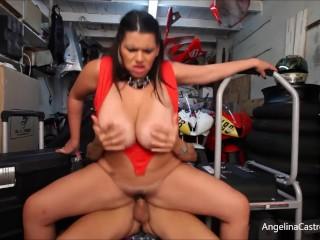 Striptease Home Video Plump Cuban Angelina Castro Blows & Bangs Big Dick In Garage, Big