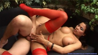 Big Tit Beauty & TS Slut China Loves A Guy Fucking Her in Every Position!