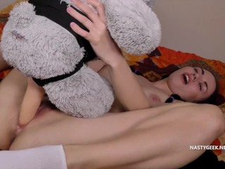 Teen Girls Really Love Dicks even if they Are on Strapped-On Teddy Bears
