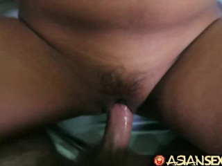Preview 6 of Asian Sex Diary - Filipina babes have threesome with big white cock