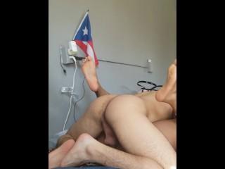 Black girlfriend loves my Puerto rican cock