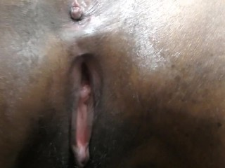 HornyLily showing off her dirty panties and pussy close-up