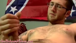 Straight dude jerks off before his dick gets sucked