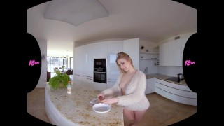 18VR.com Blonde Hottie Casey Nice Serves Her Pussy For Breakfast