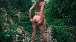 Jungle Sex with 2 cumshots! Amateur Couple LeoLulu  perfect girlfriend french amateur cum on ass point of view big cock outdoor outside rough deepthroat outdoor amateur amateur couple real couple sex fit teen fit girl jungle sex