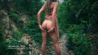 Jungle Sex with 2 cumshots! Amateur Couple LeoLulu porno
