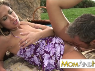 outdoor facial with milf August