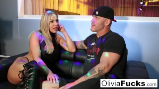 Stacked blonde stripper takes on a customer in the VIP Blow nice