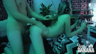 Gamer Girl Multitasks!  gamer girl big cock swedish couple blowjob fucking cumshot small tits miss banana young pussy 4k gamer facial doggystyle ps4
