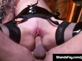 Canadian Cougar Shanda Fay Cowgirl A Hard Cock Until She Cums