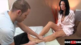 Inside son step cums mom mom massage