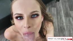 FirstClassPOV - Teen Jillian Janson take a monster cock in her throat