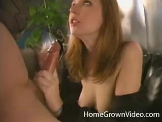 Big boobs tease video sexy redhead amateur deepthroats a long cock homegrownvideo amateur hom