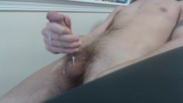 Cock stroking close up and Cumshot
