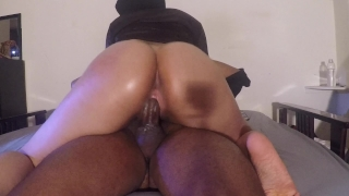 SHY BABYSITTER RIDES WILD AND CREMES ON DICK Fuck gaping