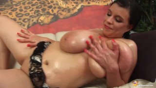 Her shows boobs milf oiled monster mom juggs
