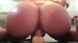 Bros cheating gf send video of her riding dildo