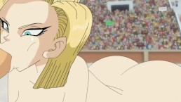 Android 18 and Trunks at the Tournament (Blowjob)