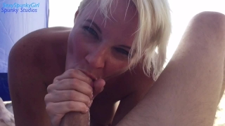People See Me Suck Cock At The Nude Beach Amateur throat