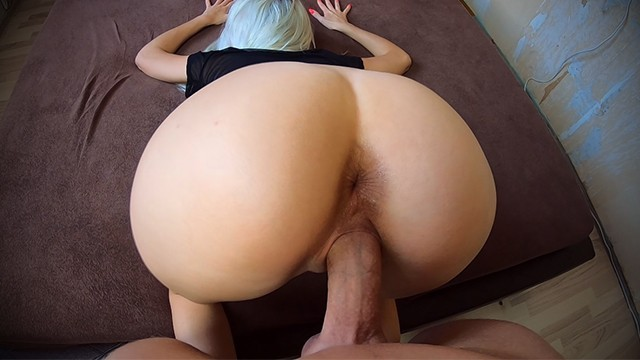 Cum flowing tube - Big dick fuck me in doggystyle sperm flows down my back