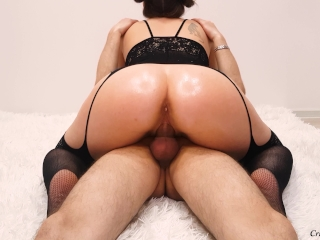 Big Booty Milf Rides Cock And Creampie In Pussy